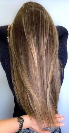 Brown Hair With Blonde Highlights, Honey Blonde Hair, Blonde Hair Looks, Brown Hair Balayage, Hair Color Balayage, Hair Highlights, Full Balayage, Light Brown Highlights, Bayalage Light Brown Hair