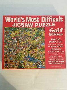 Amazon.com: World's Most Difficult Jigsaw Puzzle Golf Edition: Toys & Games