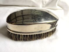 SANITAX SILVER BRUSH Natural Bristles Chicago Brush Co. Nov. 11th 1989 May 1901 by StudioVintage on Etsy