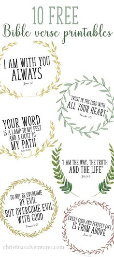 These printable Bible verses are free, and are perfect to help your whole family memorize simple scripture passages. Bonus: they're beautiful!