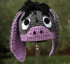 Pattern Directions for Making a Crochet Little Donkey Hat for Baby  Photo Prop PDF