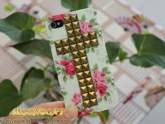 Flower Rose Hard Case With Cross Antique Brass Pyramid by moonboat, $11.99