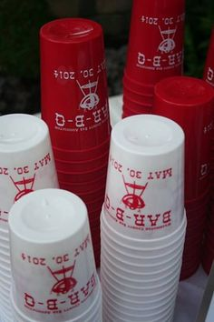 FREE SHIPPING 16 oz Custom Stadium Cups / BBQ / Family Reunion / Wedding Favor / Bar or Bat Mitzvah / Couples Shower /