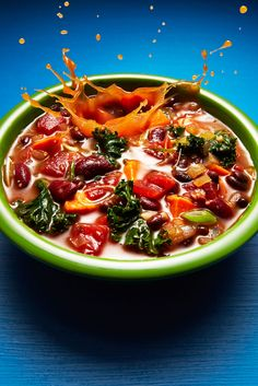 Vegetarian Kale-And-Sweet-Potato Chili Serves About 4 Prep Time 35 minutes