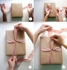 Perfect gift bow - even better than the video instructions I pinned just before.