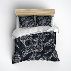 Scroll Design Skull & Cross-bone Bedding. WHAT'S INCLUDED: What is a Duvet Cover? A Duvet Cover is a protective case for your comforter, similar to how a pillow case works to keep your pillow clean, u