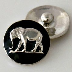 Elephant snap charm that is interchangeable with Noosa or Ginger snap jewelry and many other popular brands. This chunk charms is 20 mm. by BeaditBracelets on Etsy