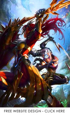Leona and Diana League of Legends Champion Artwork