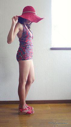 92e58ba0ec595 Bombshell swimsuit using Closet Case Files pattern