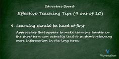 Effective Teaching Tips (Tip 9)