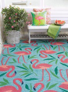 Love the Flamingo rug! So Florida!