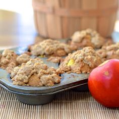 Virtually Homemade: Peach Cobbler Muffins