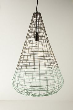 Woven Wire Pendant Lamp from Anthro