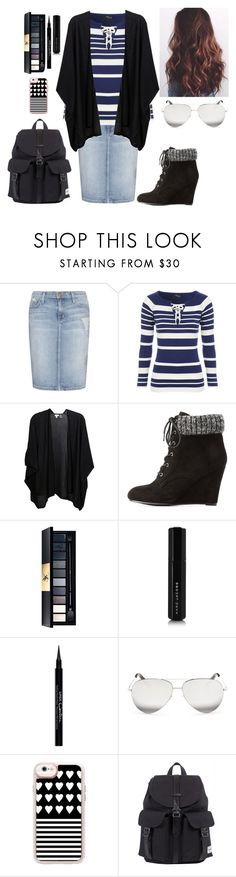 """Untitled #225"" by kind-at-heart ❤ liked on Polyvore featuring Current/Elliott, Jane Norman, Kinross, Charlotte Russe, Yves Saint Laurent, Marc Jacobs, Givenchy, Victoria Beckham, Casetify and Herschel"