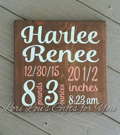 Check out this item in my Etsy shop https://www.etsy.com/listing/531532971/birth-stats-sign-baby-stats-birth