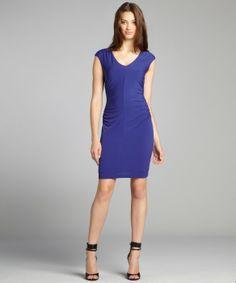 Ivy & Blu star night stretch jersey v-neck ruched dress
