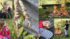 """Jak zpříjemnit dětem podzim? Třeba ohýnkem a vlastnoručně nad plameny připravenými """"hady trdelníky"""". Připravte kynuté těsto, ..."""