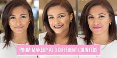 "Here are M.A.C., Urban Decay, and Benefit's interpretations of ""pretty prom makeup.""​"