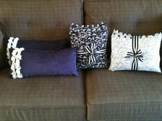 handsewn button embellished pillows