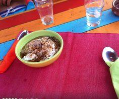 The best  Greek yogurt, greek honey toped with mixed nuts.