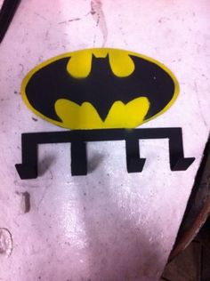BAT MAN hat rack about 11 inches across $30