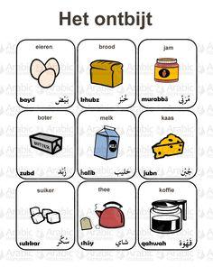 Het ontbijt Arabisch-Nederlands