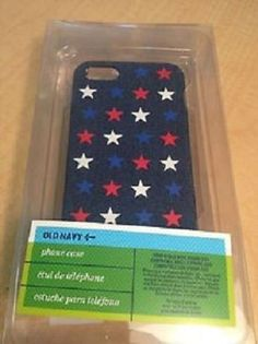 Denim Old Navy USA Red/White/Blue Stars iPhone 5 Plastic Case - FREE SHIPPING #OldNavy