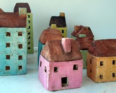 Lovely Ceramic Pink House Tealight Holder by DerinmaviBodrum