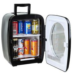 Portable Refrigerator 15 Liter Mini Cooler Warmer Cosmetic Electric Mini  Fridge Type   Compact Fridge, Features   Cooling And Heating, Color    Black, ...