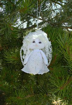 Christmas Angel Ornament Primitive Stuffed by AllasOriginals