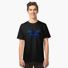 """ Butterfly"" T-shirt by Tshirt Colors, Wardrobe Staples, Female Models, Heather Grey, Classic T Shirts, Butterfly, Fabric, Mens Tops, Cotton"