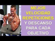 Entrenamiento Hipertrofia Muscular - http://ganarmusculoss.blogspot.com  El mejor rango de repeticiones, velocidad y descanso según cada objetivo para tu entrenamiento de gimnasio. Mejor rango de repeticiones en una rutina de pesas para la resistencia muscular: Más de 12