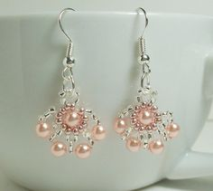 Perfect earrings for the office, attractive but not over the top Light Rose Pearl Earrings KerisKrystals http://etsy.me/161T8Yr  @Etsy