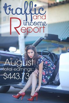 Make money as a blogger! Here's how! August Traffic and Income Report - Fitness Fashionista