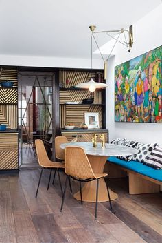 Lionel Jadot's London Townhouse. Using reclaimed wood as a major design element.