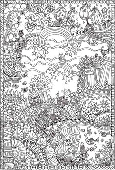 Creative Coloring Books Awesome Creative Haven Insanely Intricate Entangled Landscapes Coloring Book Dover Publications Free Printable Coloring Pages, Coloring Book Pages, Coloring Pages For Kids, Coloring Sheets, Colorful Drawings, Colorful Pictures, Doodle Coloring, Mandala Coloring, Dover Publications