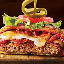 Pepperoni Bacon Pizza Burger