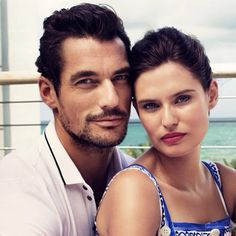 #Closeup  Check out the HQ version of this one in my Tumblr: http://ohmygandy.tumblr.com/post/124765354065/hq-david-gandy-and-bianca-balti-for-dolce #DavidGandy #BiancaBalti ❤️ #dglightblue