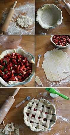 Strawberry Basil Pie - Maybe instead of white sugar make with maple syrup, but I love the use of balsamic vinegar!