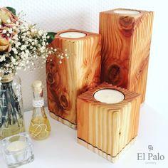 Kerzenständer - 3 Kerzenhalter aus Holz - Gr. L - Vela 2.1 - ein Designerstück von El-Palo bei DaWanda