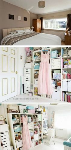 Craft room ideas and craft storage solutions are probably what I'm best known for through this website, so of course, I thought I'd share some of the best Craft Room ideas we've ever featured! #craftrooms #craftroomideas #sewingroom #sewingstudio #craftstorage #storagesolutions Craft Organization, Craft Storage, Storage Ideas, Storage Solutions, Alex Desk, Ikea Kallax Unit, Alex Drawer, Space Crafts, Mason Jar Diy