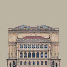 Symmetry and architecture - Hungarian artist Zsolt Hlinka explores this concept with his series of perfectly balanced buildings in a series titled Urban Symmetry.