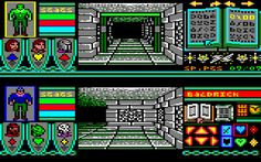 Bloodwych for Amstrad CPC (Image Works / Mirrorsoft, 1990). Also published on ZX Spectrum, C64, Amiga, Atari ST and PC. First-person dungeon-crawler.