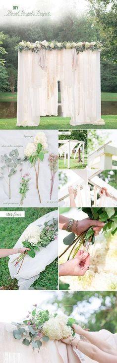 20 + DIY Bastelideen zur Hochzeit - DIY Fotohintergrund
