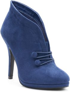 d20cd0afc0d160 Tall Curved Navy Peep Toe Booties