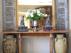 - Make an entrance - Discover our range of divine rustic shutters, from Provence. Layer them with a mirror and a stunning table for a unique and inviting look. Bring the outdoors in with oversized French pottery. Add your character and personality with collections.
