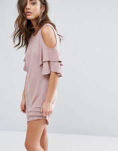 Buy it now. Miss Selfridge Cold Shoulder Ruffle Smock Dress - Pink. Dress by Miss Selfridge, Loop back sweat fabric, Super soft-touch finish, Round neck, Cold-shoulder design, Frilled sleeves, Regular fit - true to size, Machine wash, 97% Viscose, 3% Elastane, Our model wears a UK 8/EU 36/US 4 and is 170cm/5'7 tall. ABOUT MISS SELFRIDGE Miss Selfridge takes you from day to date night with its off-duty looks and full-on glamour. Solve what-to-wear dilemmas with its dresses and accessories…
