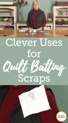 As quilters we often find ourselves with lots of scrap piles, including quilt fabric and batting. In this video, ZJ Humbach shares some clever ideas for how you can use up those scraps of quilt batting in creative and efficient ways.