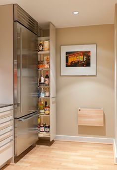 Pullout Pantry - 10 Big Space-Saving Ideas for Small Kitchens | Houzz