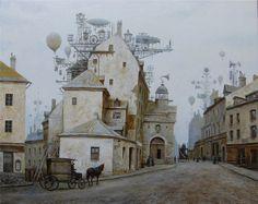 steampunk airship wallpaper - Google Search